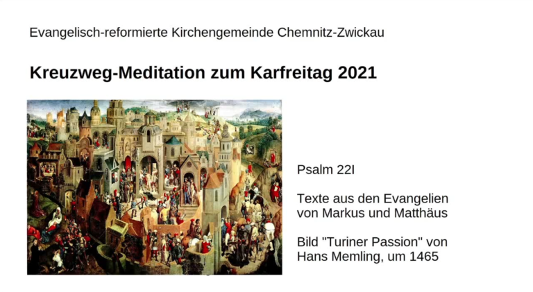 Kreuzweg-Meditation zum Karfreitag 2021