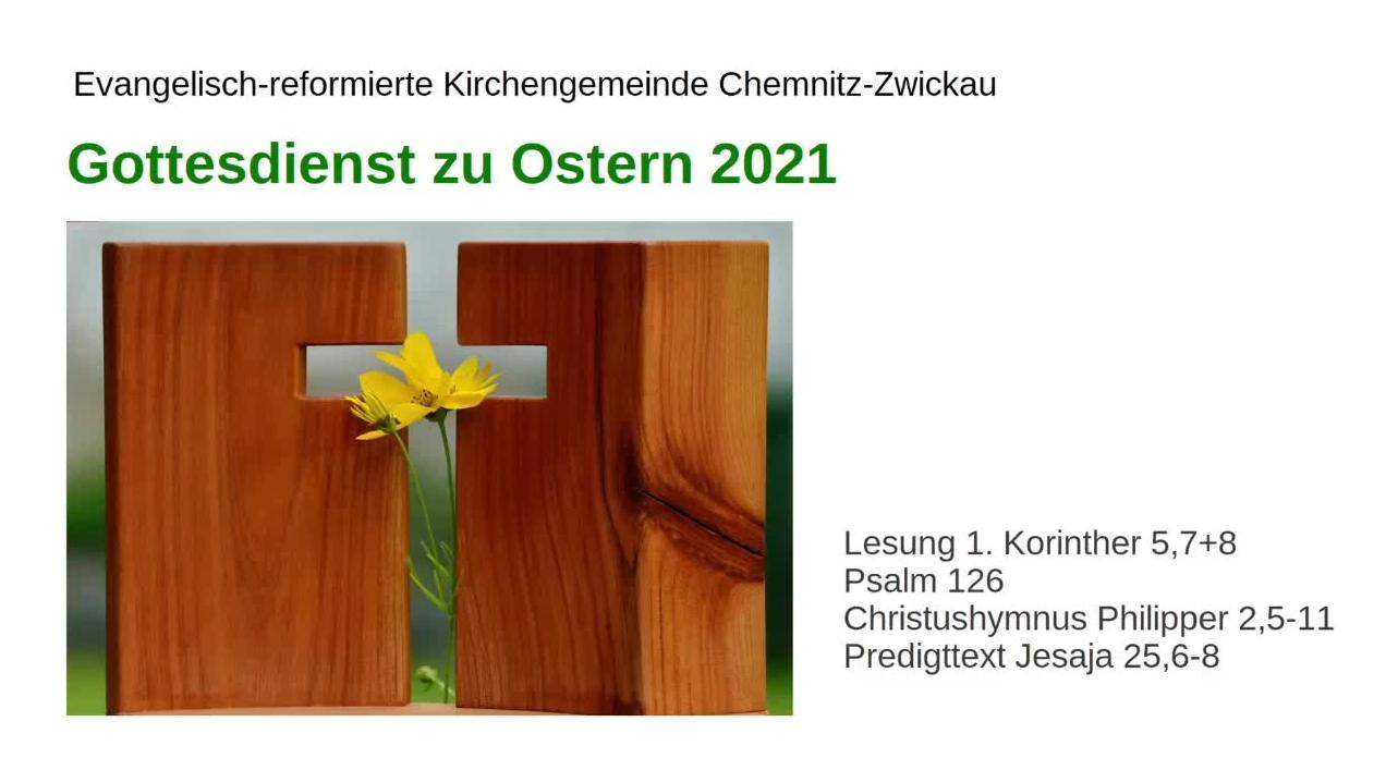Gottesdienst zum Ostersonntag 2021