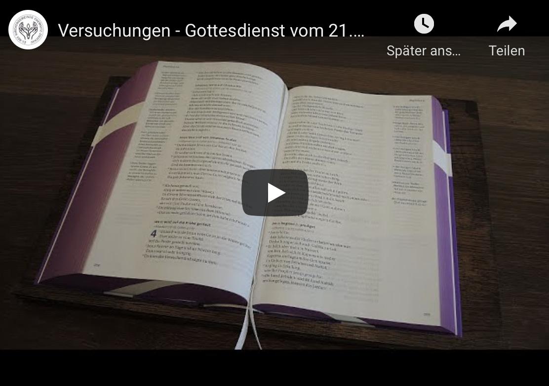 Videogottesdienst zum 1. Sonntag der Passionszeit